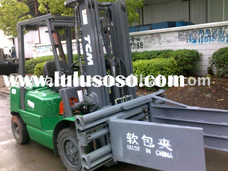 Used forklift , TCM 3 ton fork lift truck with clamp, lift trucks