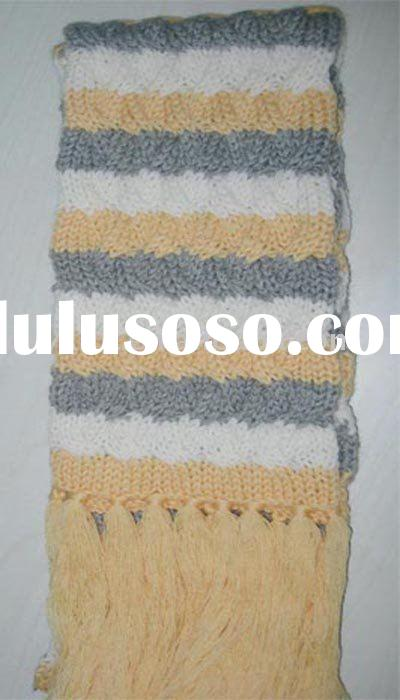 WOMEN  striped knitted scarves, scarf hat &glove sets