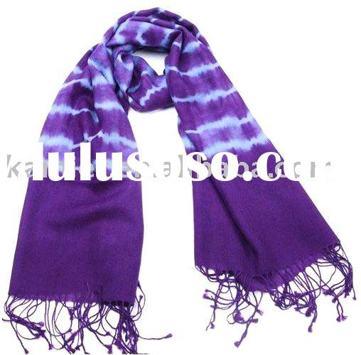Woven Cotton Tie Dyed Scarf & Shawl