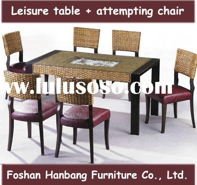 casual rattan dining set