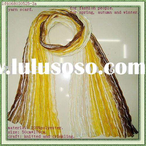 hand-printed polyester scarf