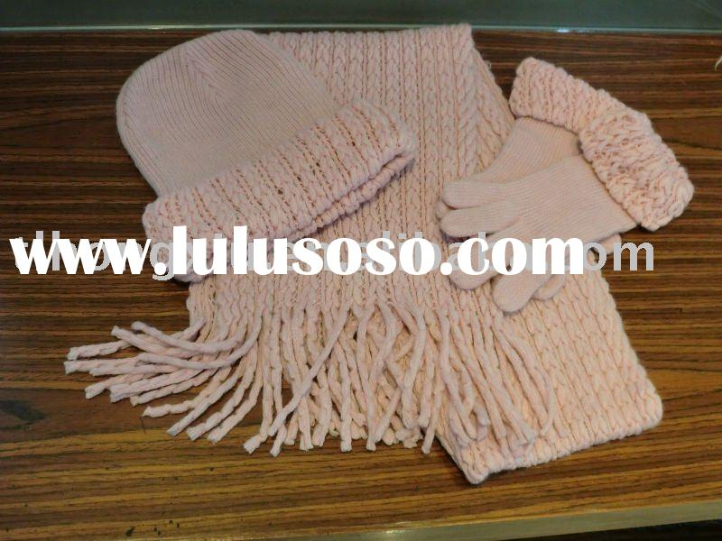 hat scarf and glove set for children