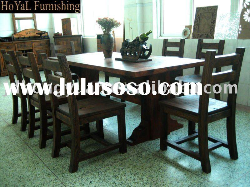 solid wood dining room furniture-chair&table