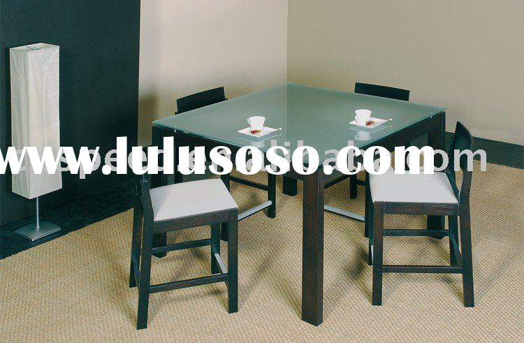 square glass top dining table