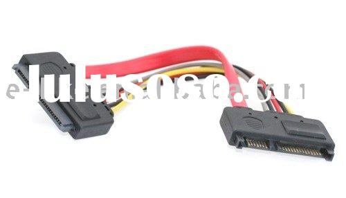12 Inch SATA Power/DATA Extension Cable 22-pin Male to Female SATA Cable