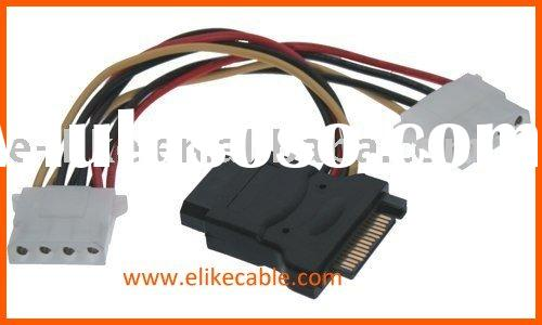 15 pin SATA Power Adapter Cable
