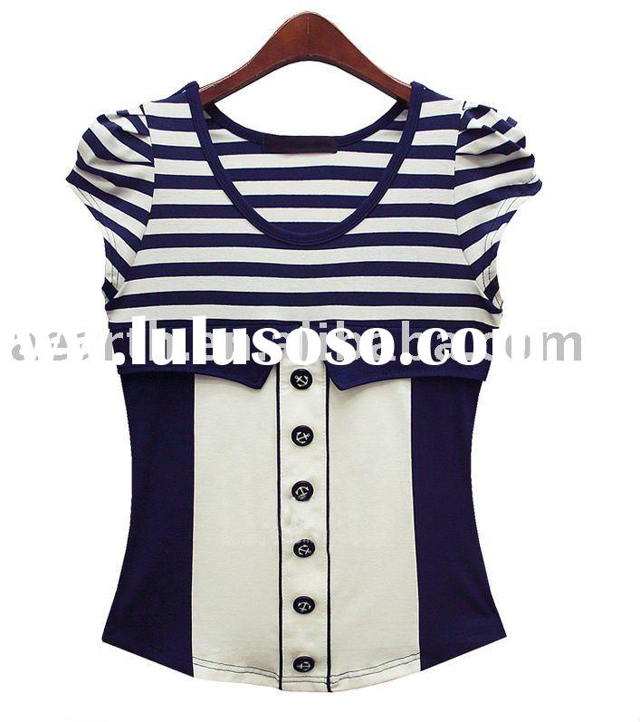 Fashion ladies top wear with button