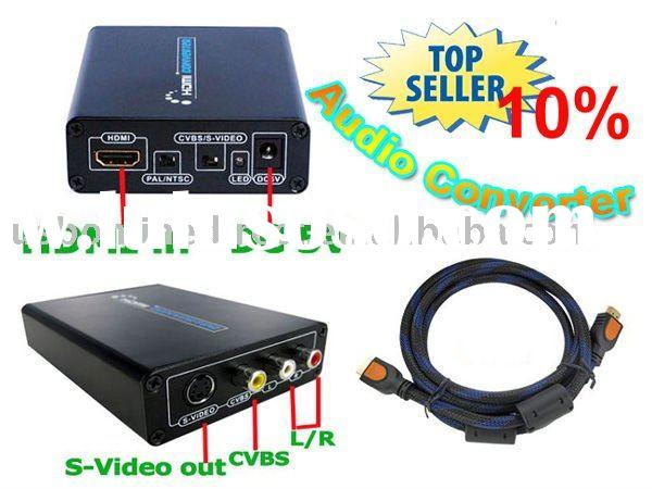 HDMI to Composite/S-video + Audio Converter+HDMI Cable