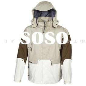 Mens nylon twill multifuntional ski jacket