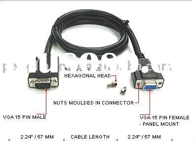 Monitor VGA Cable 15 pin - panel F to M
