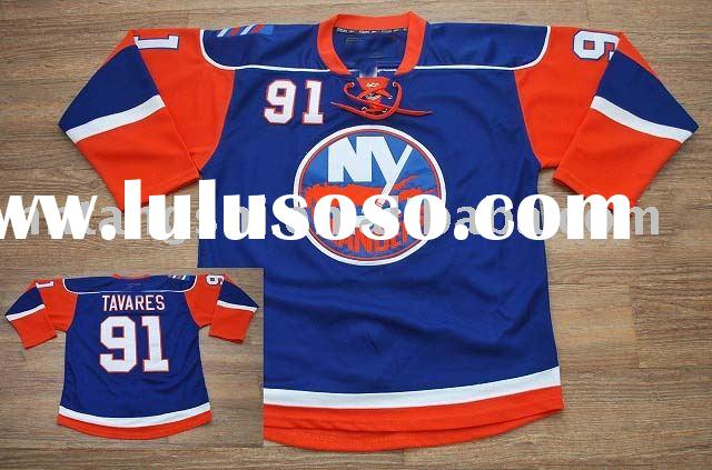 OFFICIAL New York Islanders #91 TAVARES 3RD ice hockey jersey