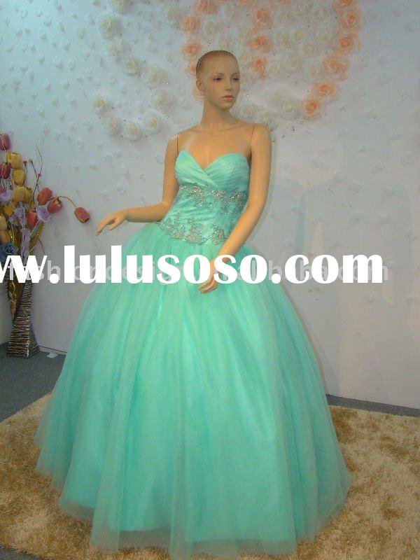 R044  Custom made Quinceanera Dresses real photos of  prom dress