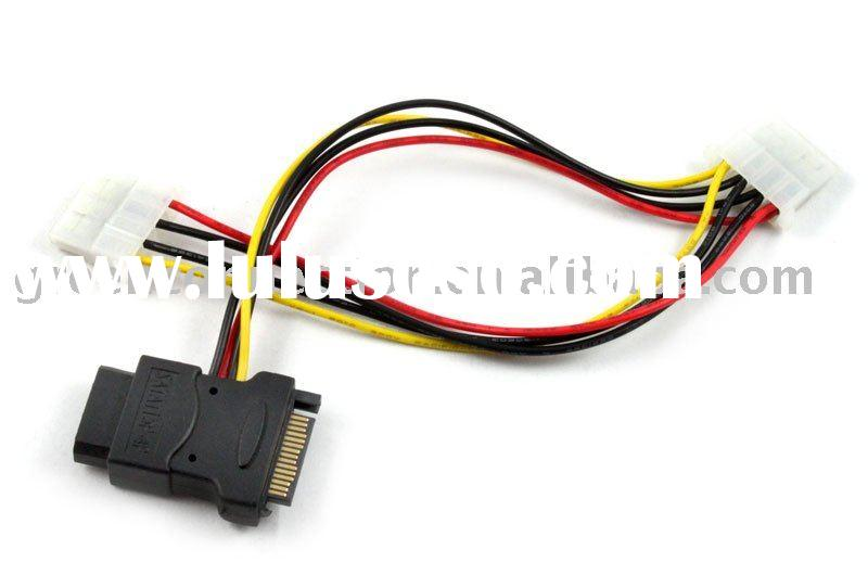 SATA Power 15-pin Cable Adapter to MOLEX 4-pin cable