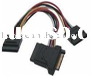 SATA power cable 15pin to 15pin+adapter