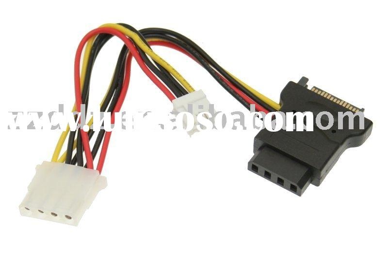 SATA power to 4 Pin Molex and 4 Pin Floppy Power Cable