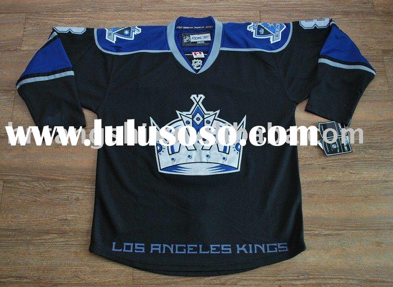 Top quality--#8 DOUGHTY Los Angeles Kings Black Front ice hockey jersey,Accept paypal