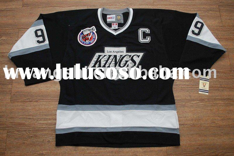 Top quality//#99 GRETZKY Los Angeles Black Front ice hockey jersey Back,Accept paypal