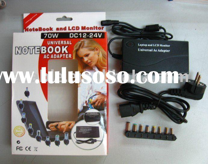 Universal AC Laptop Power Adapter/Notebook Battery Charger with 8 Charging Tips