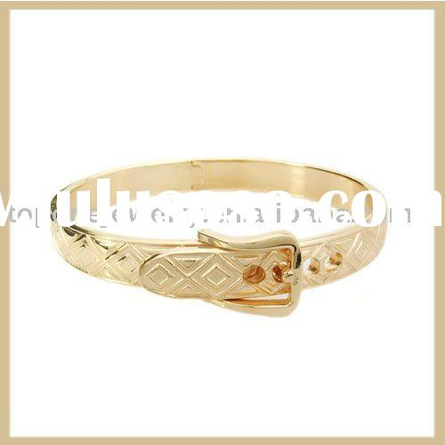 2011 stainless steel with gold cable bangle