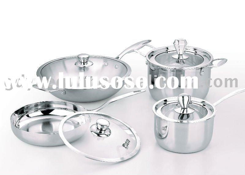 Best qualiy : 3-ply stainless steel  cookware sets
