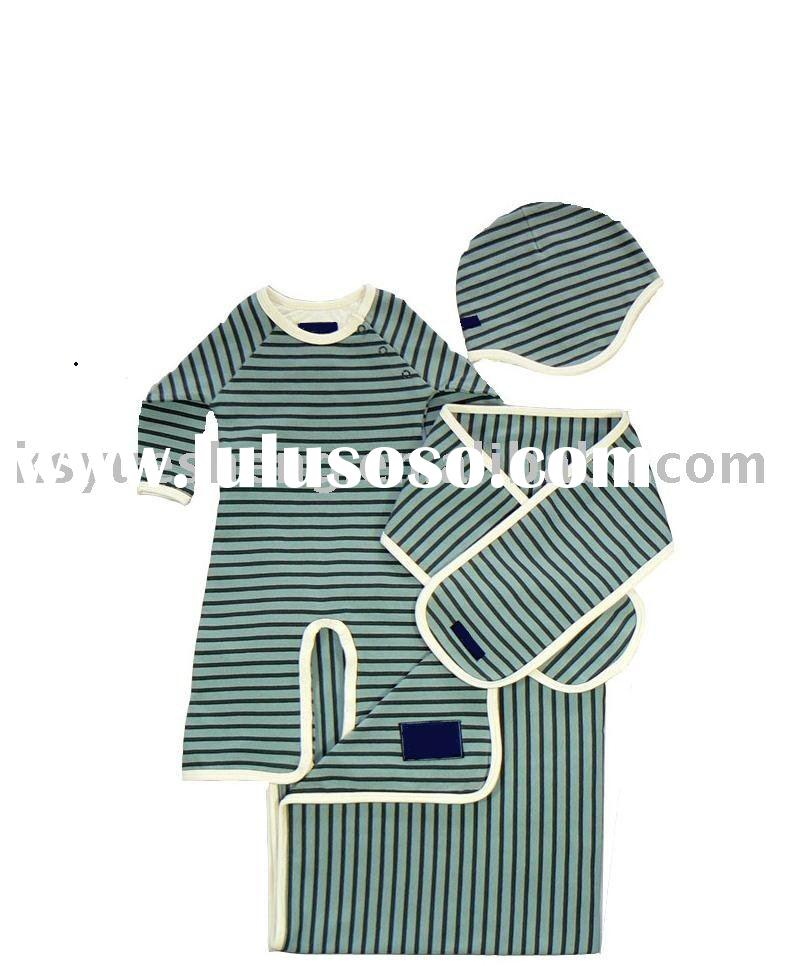 Certified organic cotton Baby clothing--baby sets