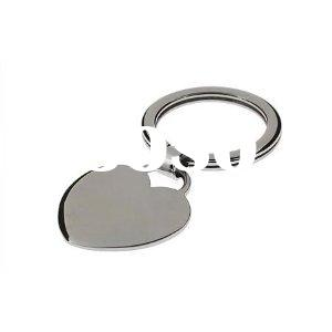 Engravable Stainless Steel Charm Heart Keychain