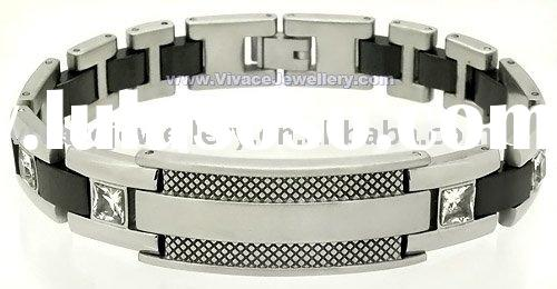 Fashion Stainless steel bracelet with zircon