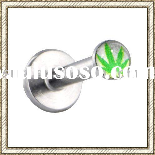 Logo Body Piercing jewelry, Surgical Steel SPIKE Barbell Labret Surgical Steel SPIKE Barbell Labret