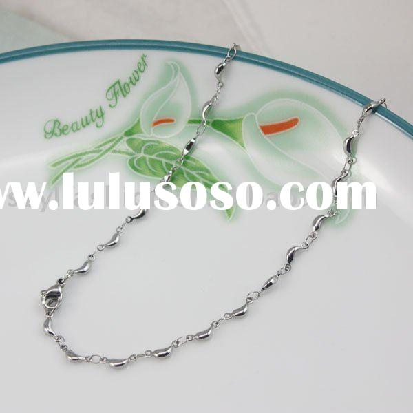 New fashion wholesale 316L Stainless Steel Necklace peas bead Chain Jewelry SC005