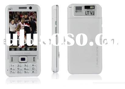 P018 Dual Card Touch Screen Cell Phone White (Not For U.S/Canada)