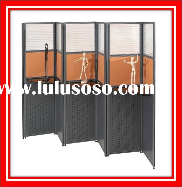 Removable office partition wall
