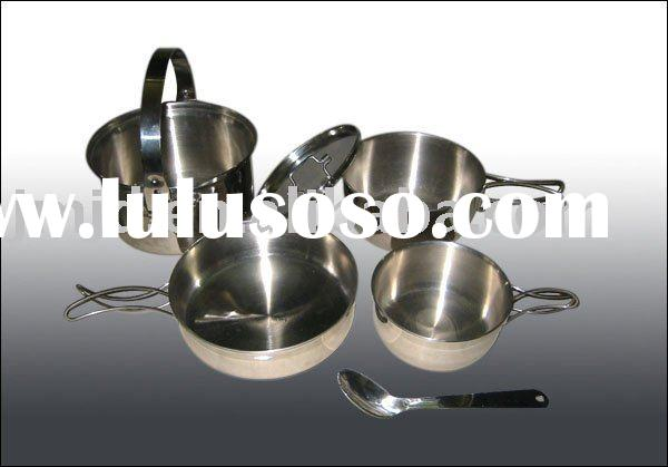 Stainless Steel Camping Cookware of One people