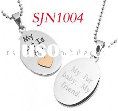 The Latest Engravable Oval Tag Stainless Steel Jewelry