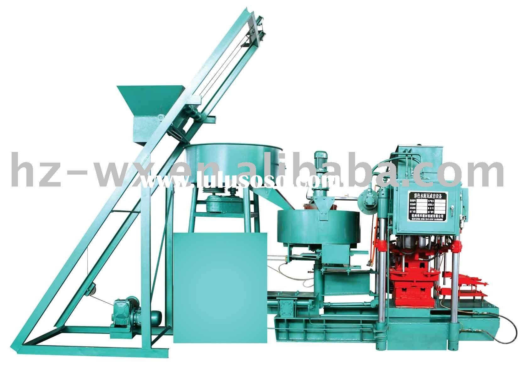 cement tile manufacturing machinery