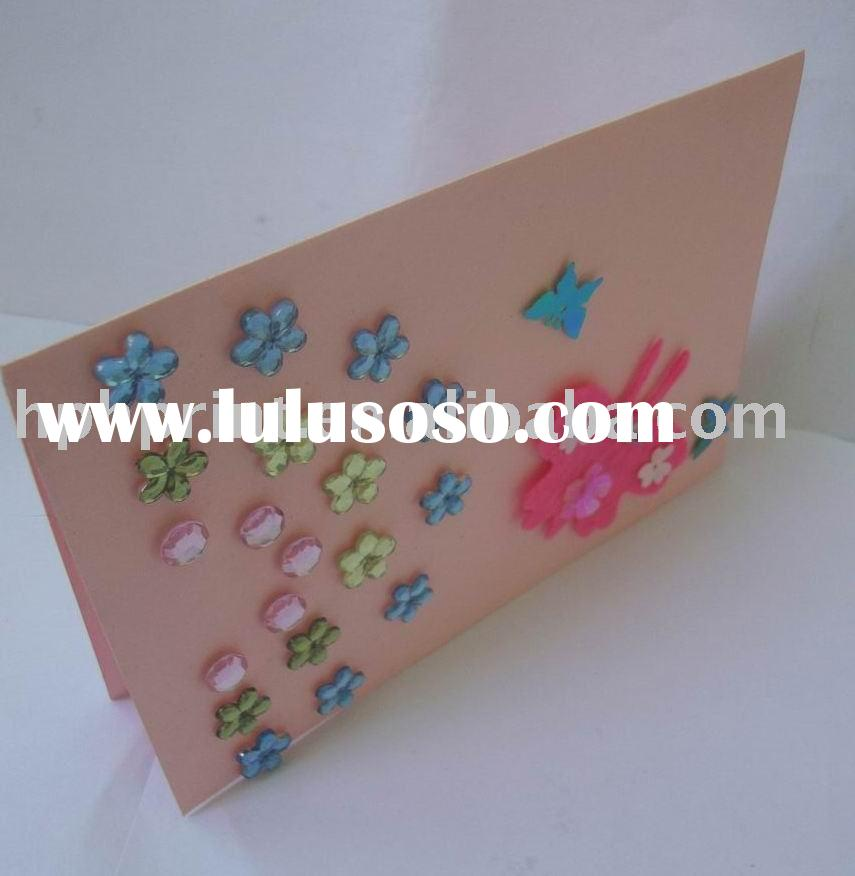 creative handmade greeting card and envelope set