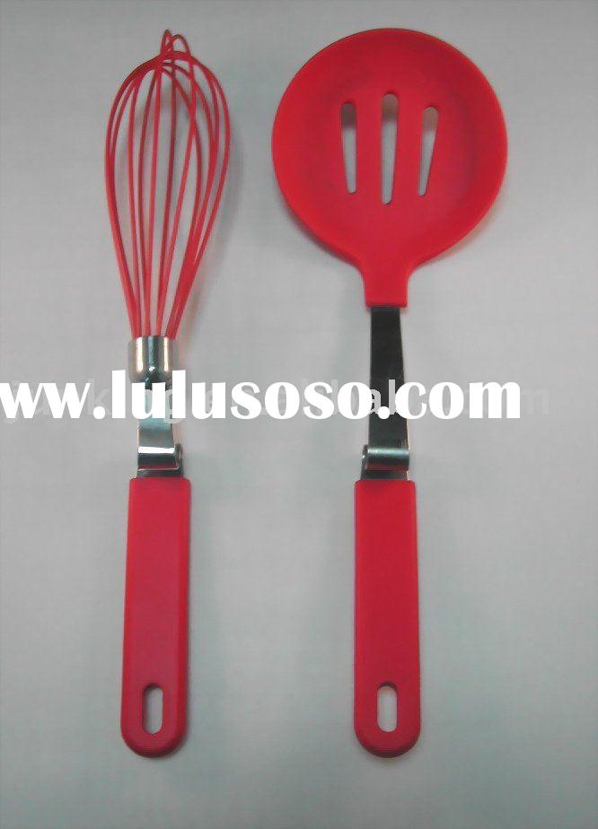 stainless steel handle silicone kitchen tool set