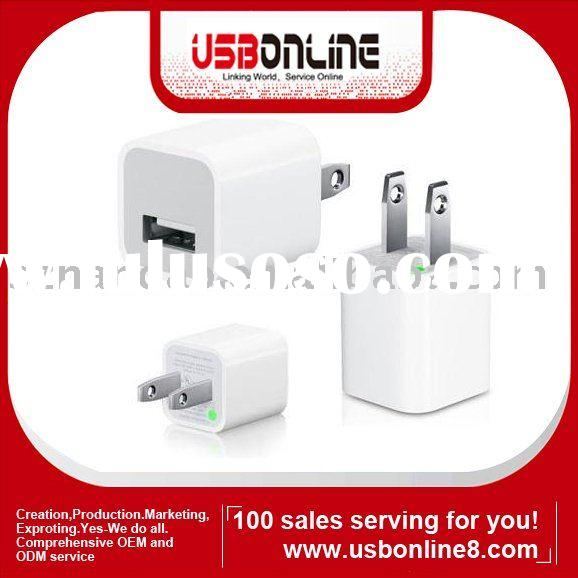 usb power adapter wall charger for iphone3g 5V1A