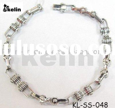 wholesale latest fashion stainless steel chain clasp bracelet