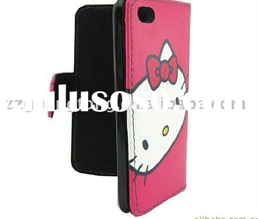 2011 Classical style  Hello Kitty  cell phone holster case for  iphone 4