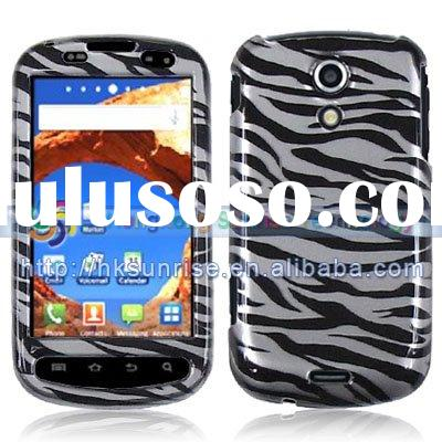 Black Zebra Rubber Phone Skin Cover Case for Samsung Epic 4G D700