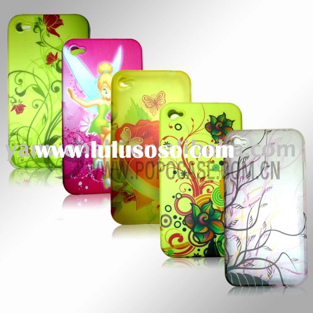 Cell phone case with UV printing for Iphone 4(Water transfer printing)