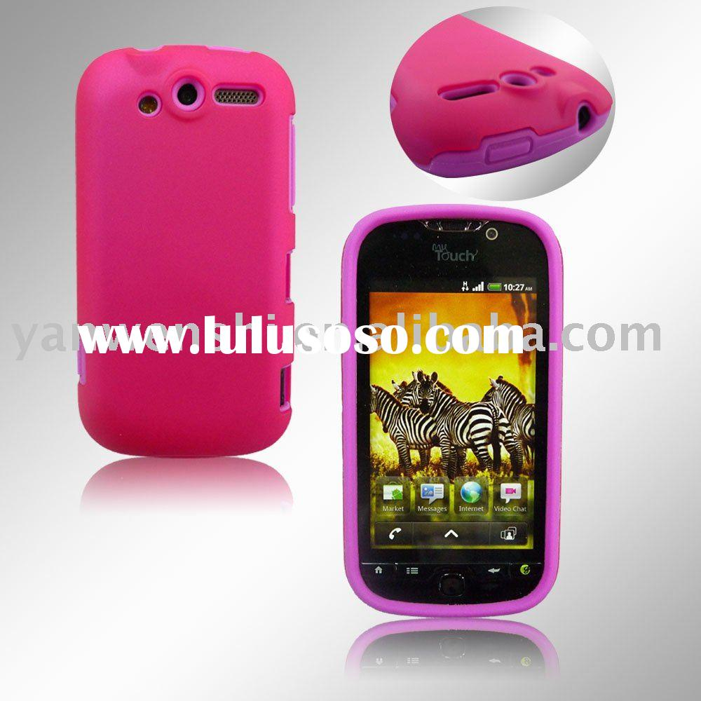 Combo Cell Phone Case for HTC Mytouch 4G(the best combination of silicone case and crystal cover)