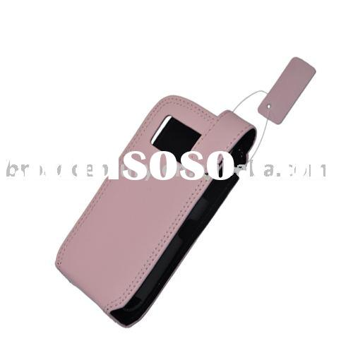 Free shipping mobile phone Leather Case For N97 cell phone (pink)