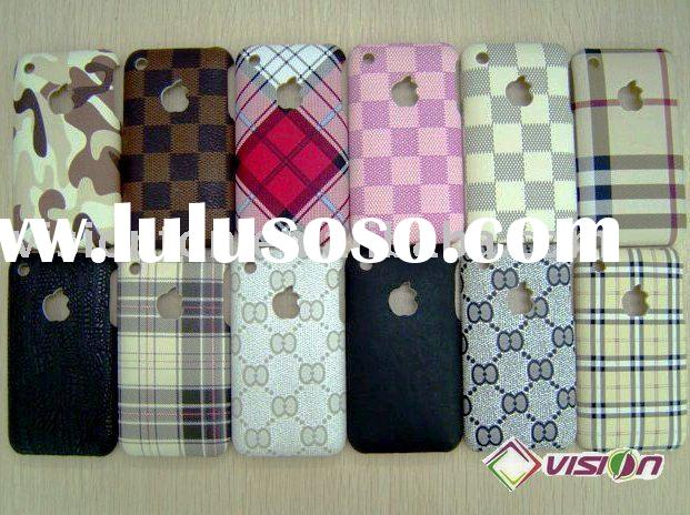 Leather Back Cover Hard Shell case  for iphone 3G,3GS,