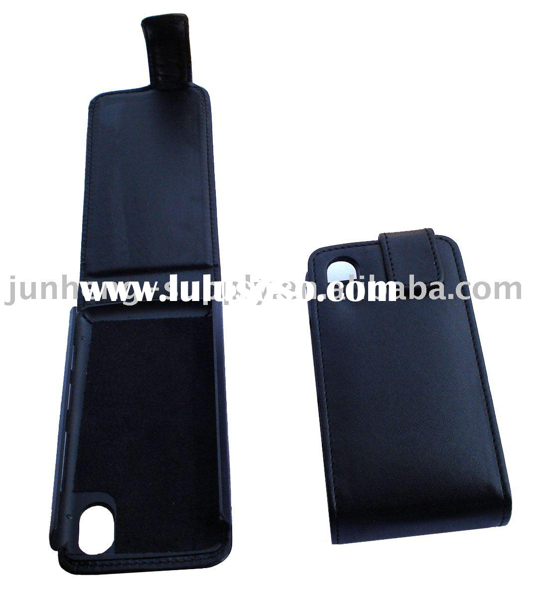 Leather Case, mobile phone leather case, cellphone pouch for LG kp500