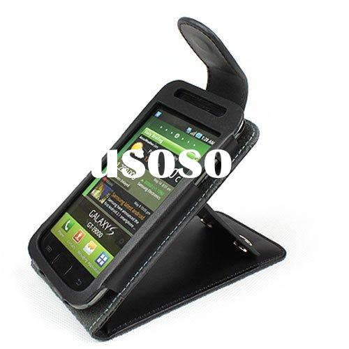 Leather case with kickstand  for samsung galaxy s i9000 leather case