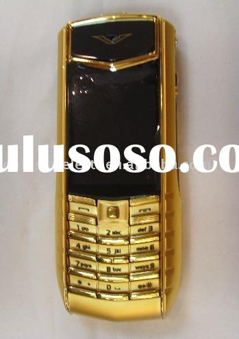 Mobile phone (gold ti)