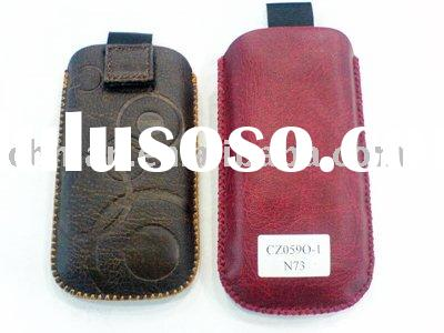 Mobile phone leather pouch