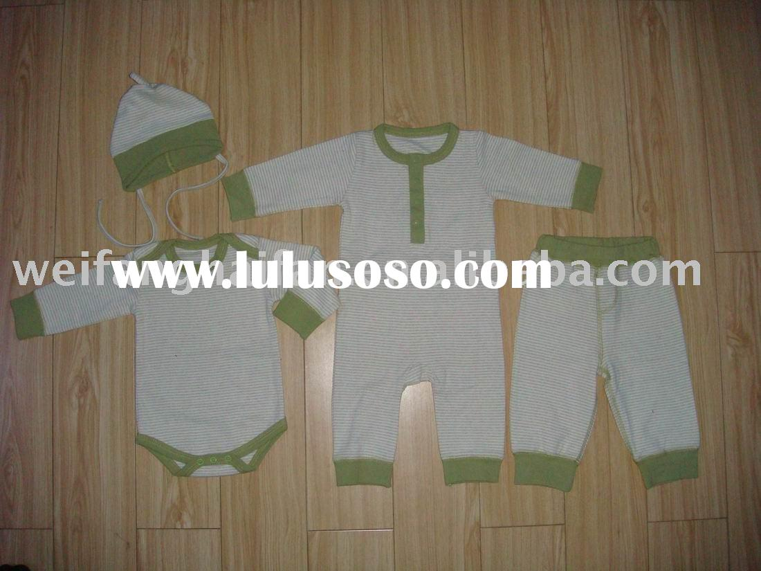Organic cotton natural color baby wear set