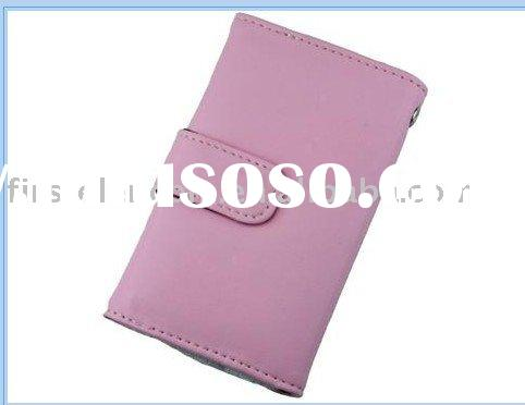 Pink Leather Pocket Case Pouch for Ipod Touch 1st 2nd t15